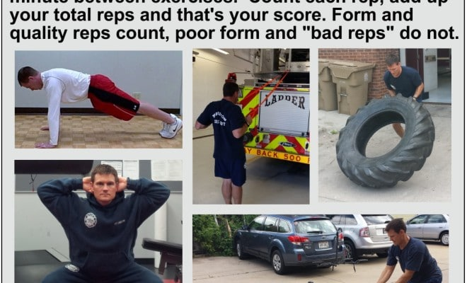 firefighter crew workout, challenge workout