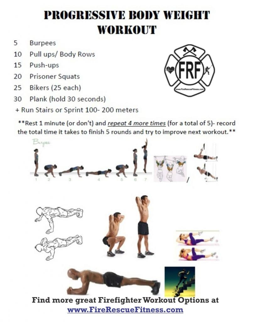 firefighter fitness- progressive bw challenge