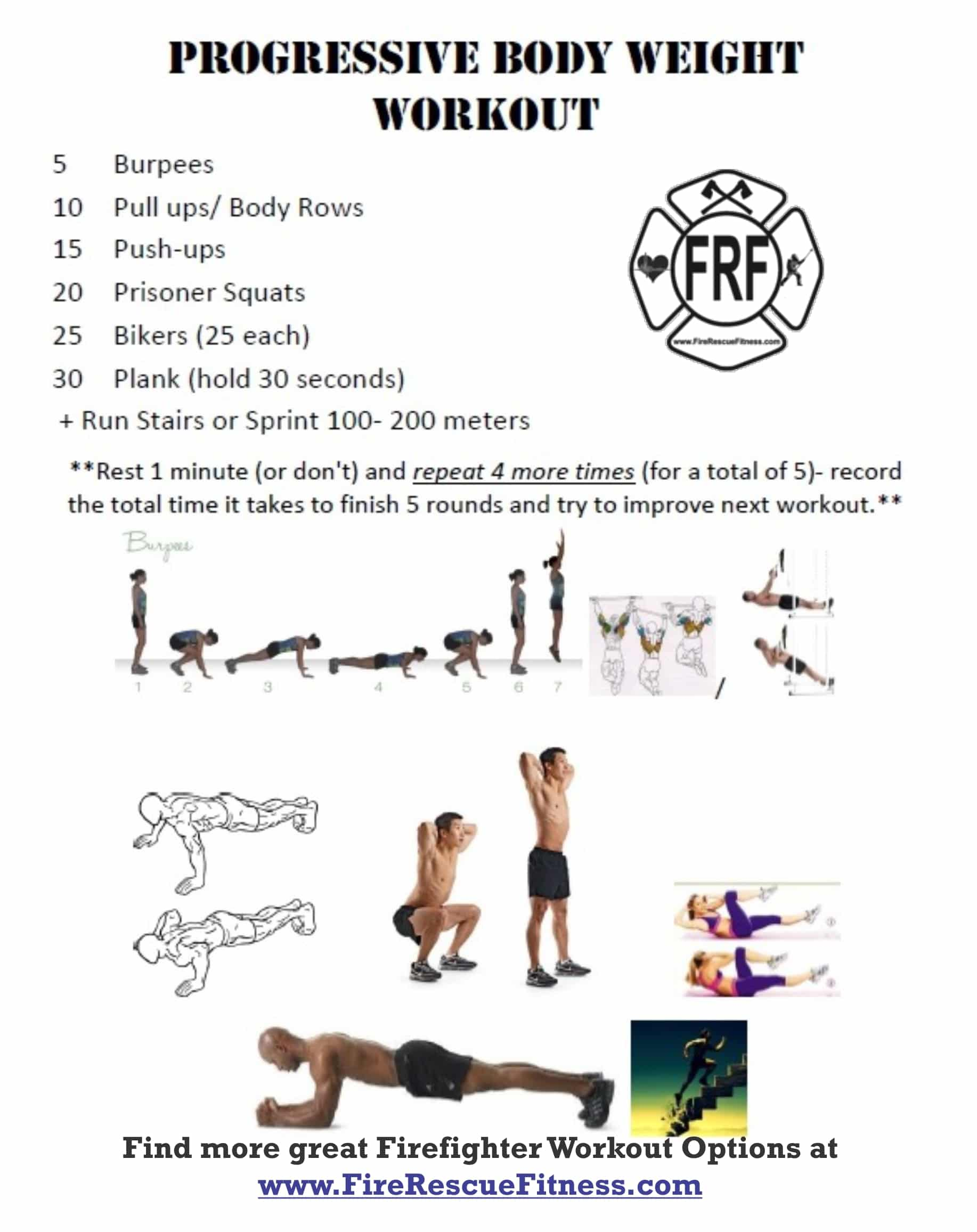 Firefighter Workout- Progressive Bodyweight Challenge ...