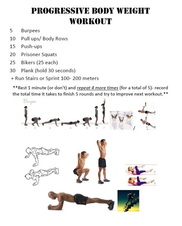 Firefighter Workout Progressive Bodyweight Challenge