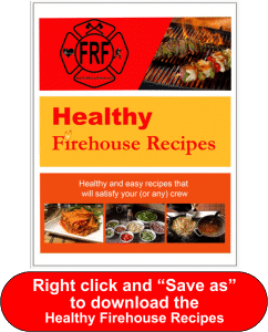 Save as graphic for product- Healthy Firehouse Recipes