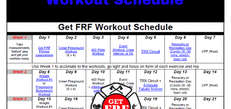 How To Create A Firefighter Workout Schedule
