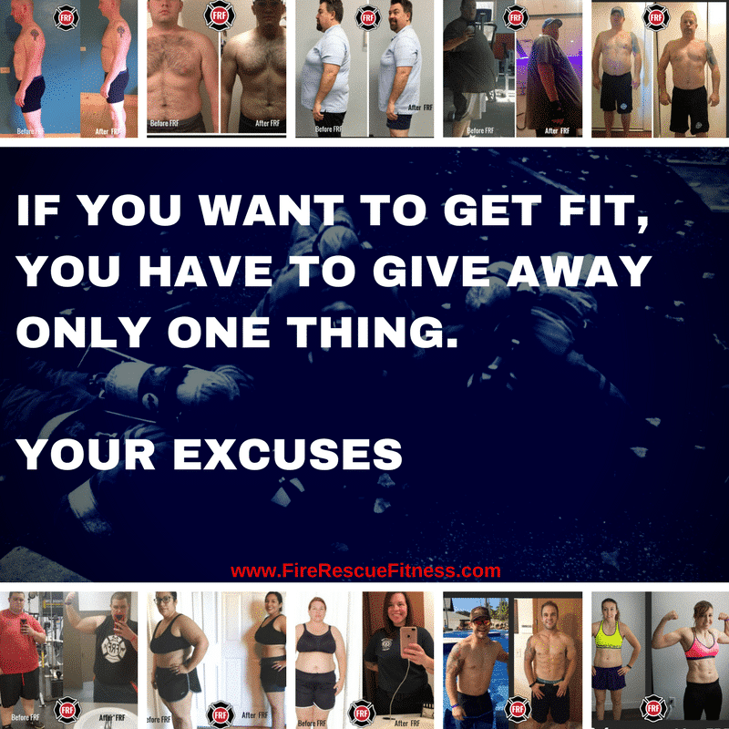 Give away excuses...
